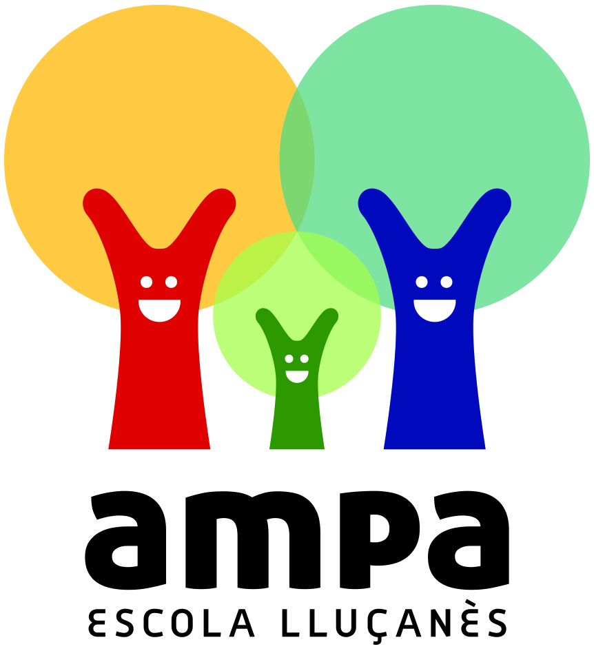 Logotiop AMPA arbres units en actitud positiva